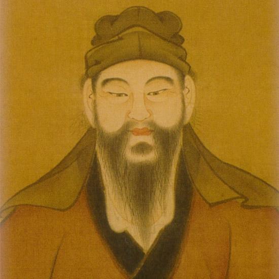 袁宏道先生肖像画(青雲齋蔵)